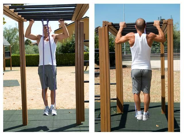 trazioni assistite elastici fitness